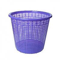 Корзина для бумаг ZiBi 3040-07 пластик. круглая 8л Фиолетовый (1/50)