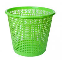 Корзина для бумаг ZiBi 3040-15 пластик. круглая 8л салатов (1)
