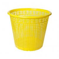 Корзина для бумаг ZiBi 3040-08 пластик. круглая 8л Желтая (1)