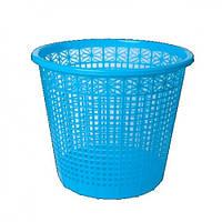 Корзина для бумаг ZiBi 3040-02 пластик. круглая 8л Синяя (1)
