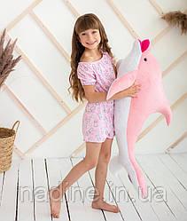 Игрушка плюшевый Дельфин (312-R-100) Eirena Nadine 100 см Розовый