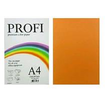 Бумага д / печати цвет. А4 100л. PROFI неон апельсин 80г №371 (1)