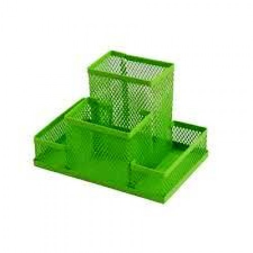 Прибор настольный ZiBi 3116-15 металлический 150х100х100мм салатовый (1/12/48)