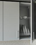 Кухня з фасадами з пластику на основі МДФ довільної конфігурації. На фото - 2,5 м, фото 2