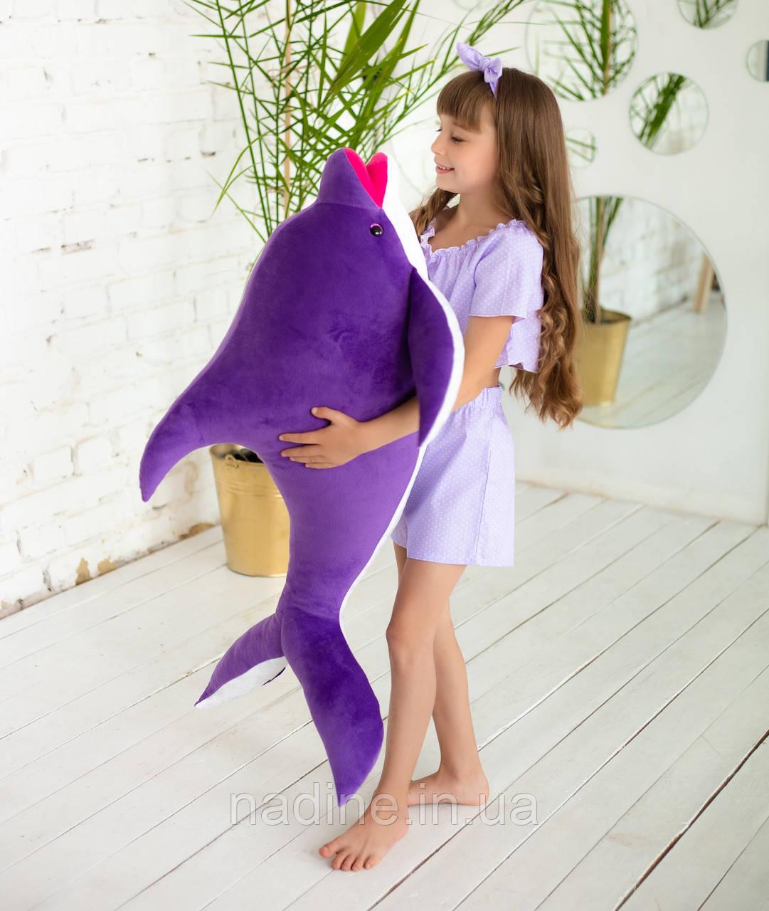 Игрушка плюшевый Дельфин (312-F-100) Eirena Nadine 100 см Фиолетовый
