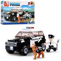 Конструктор SLUBAN M38-B0639 полиция машина фигурка собака 78дет в коробке 19-14-4 5см