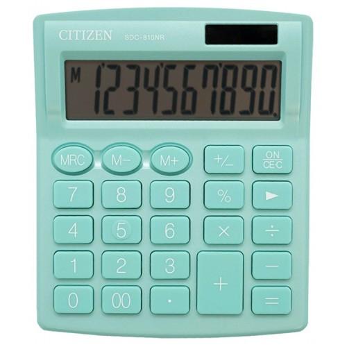 Калькулятор Citizen SDC-810NR-GN бирюзовый 10-разр. 10 * 12 5 см (1)