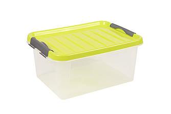 Ящик пластиковий з замками засувками Heidrun ClipBOX light 4л, 27,5 * 18,5 * 13см, (HDR-601)
