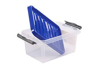 Ящик пластиковий 14л з засувками Heidrun ClipBOX light 14л, 39 * 28,5 * 18см, (HDR-604) великий харчової судок