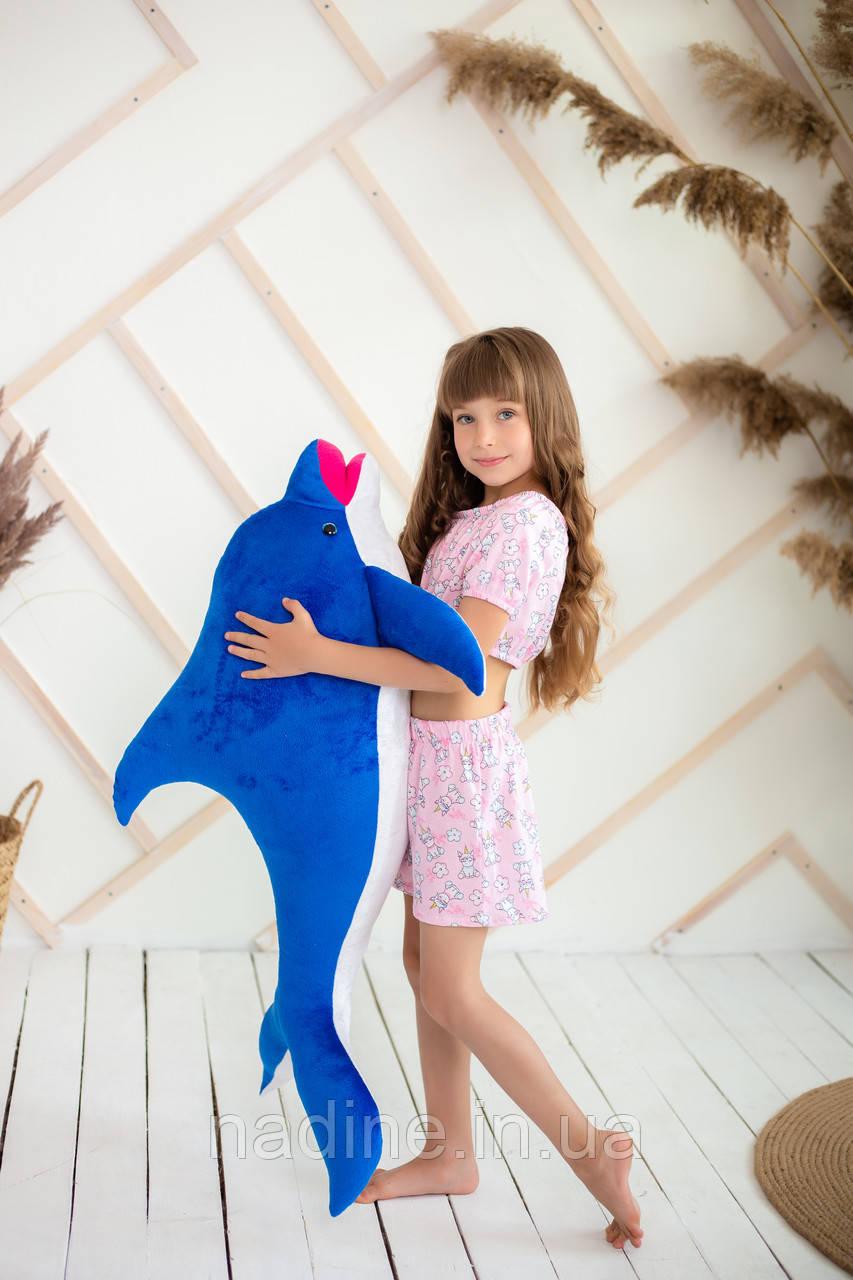 Игрушка плюшевый Дельфин (312-S-100) Eirena Nadine 100 см Синий