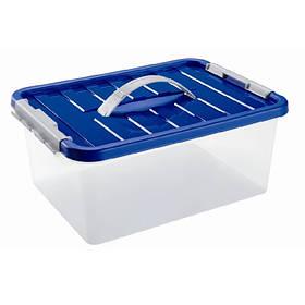 Ящик пластиковий з ручкою і застібками 5л Heidrun ClipBOX, 29 * 19 * 14см (HDR-один тисячі шістсот тридцять