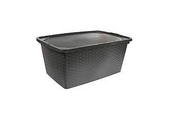 Ящик пластиковий з кришкою непрозорими 10л Heidrun Intrigobox, 33 * 23 * 16см (HDR-4510)