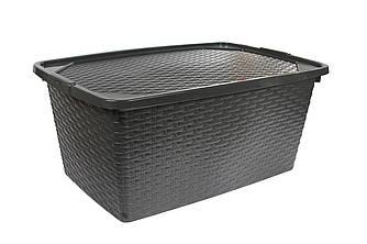Ящик пластиковий з кришкою непрозорими 40л Heidrun Intrigobox, 59 * 39 * 26см (HDR-4512)