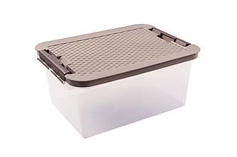 Ящик пластиковий з кришкою прозорий 14л Heidrun R-BOX, 40 * 29 * 18см (HDR-4604)