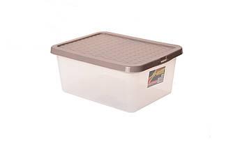 Ящик пластиковий з кришкою прозорий 13л Heidrun R-BOX, 38 * 28,5 * 16см HDR-4627)