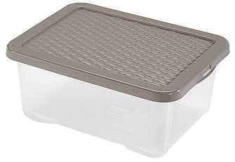 Ящик пластиковий з кришкою прозорий 18л Heidrun R-BOX, 43 * 33 * 18см (HDR-4682)
