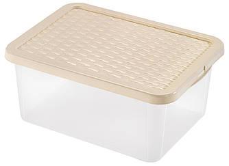 Ящик з кришкою прозорий 18л харчової Heidrun R-BOX 43 * 33 * 18см (D-4682) Контейнер із пластику для