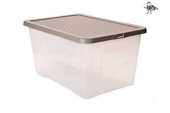 Ящик пластиковий з кришкою 50л 60 * 40 * 26см (HDR-4684) Контейнери для харчових продуктів