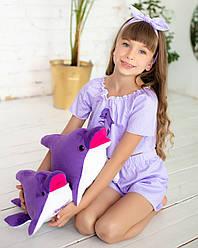 Дельфин игрушка Eirena Nadine (312-F-50) плюшевый 50 см фиолетовый