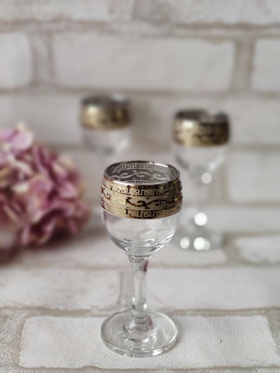 """Набір скляних чарок для спиртних напоїв """"Версаче"""" 6 шт/уп. 258 грн"""