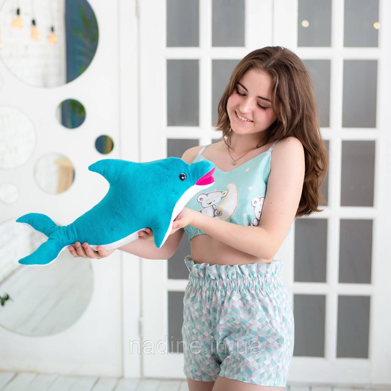 Дельфин игрушка Eirena Nadine (312-B-50) плюшевый 50 см бирюзовый