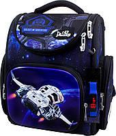 Рюкзак школьный каркасный ортопедический для мальчика 1-4 класса сумка для сменки и часы Delune 3-176