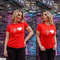 Качественные женские летние футболки с принтами арт 0350