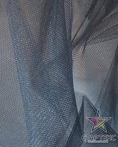 Фатин средней жесткости Crystal Tul Темно Серый