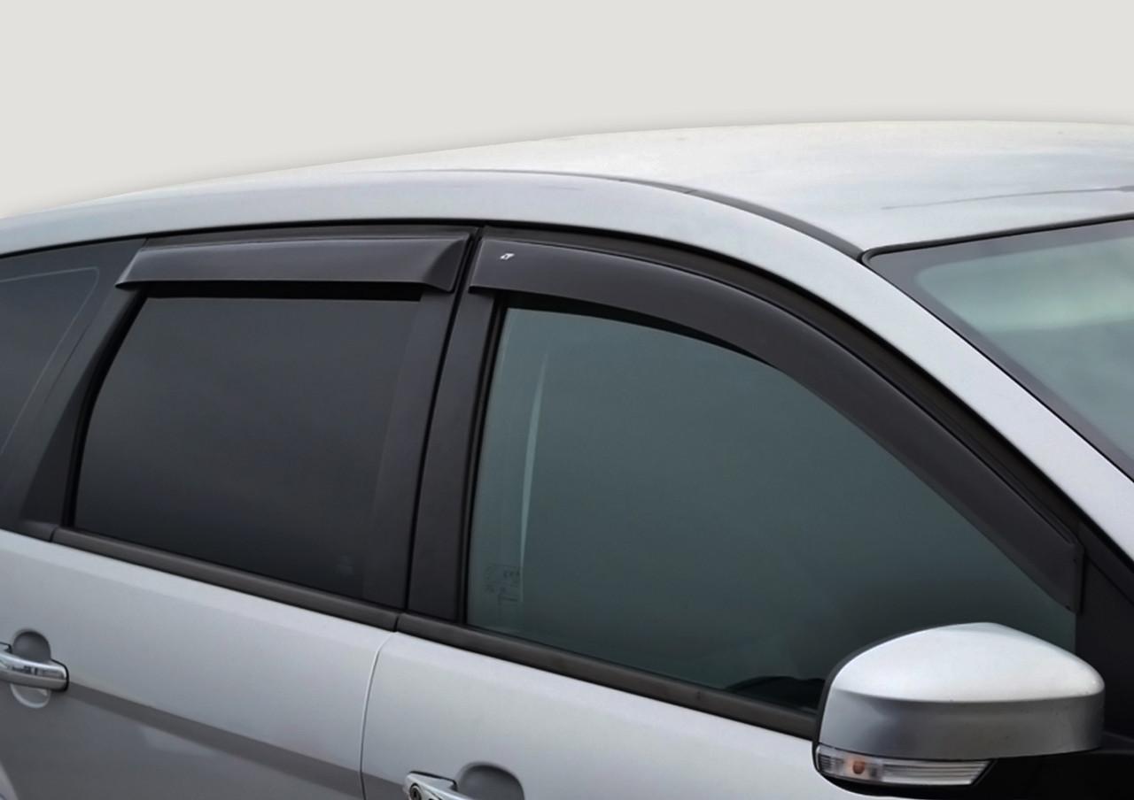 Дефлектори вікон (вітровики) Mitsubishi Pajero IV 3d 2006 (CT)