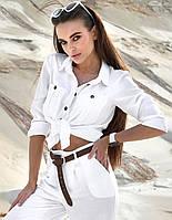 Летняя коттоновая прямая женская рубашка (1387.4181-4182  svt)