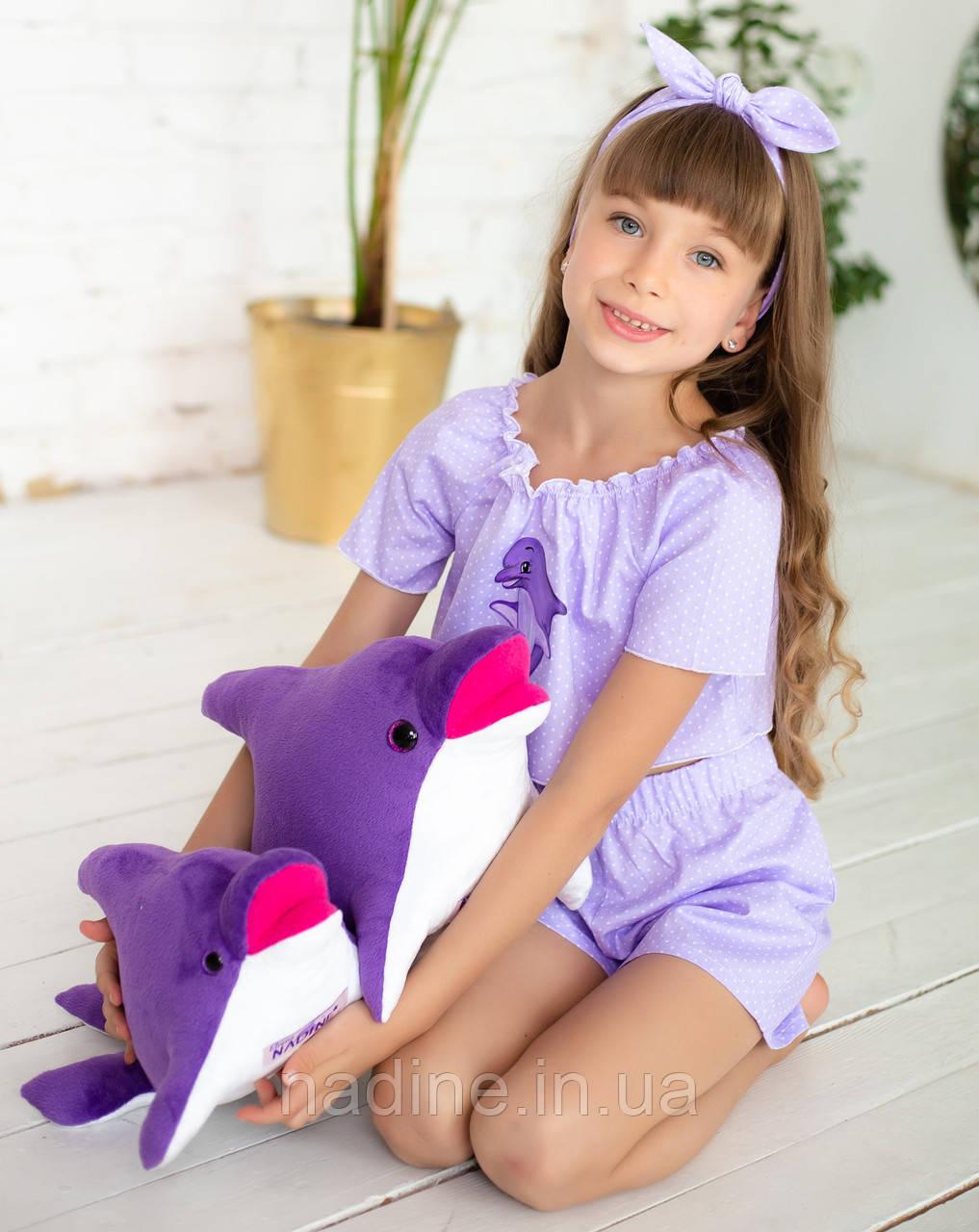 Дельфин игрушка Eirena Nadine (312-F-30) плюшевый 30 см фиолетовый