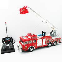 Пожарная машина Детская Игрушечная  на радиоуправлении с пультом и педалями