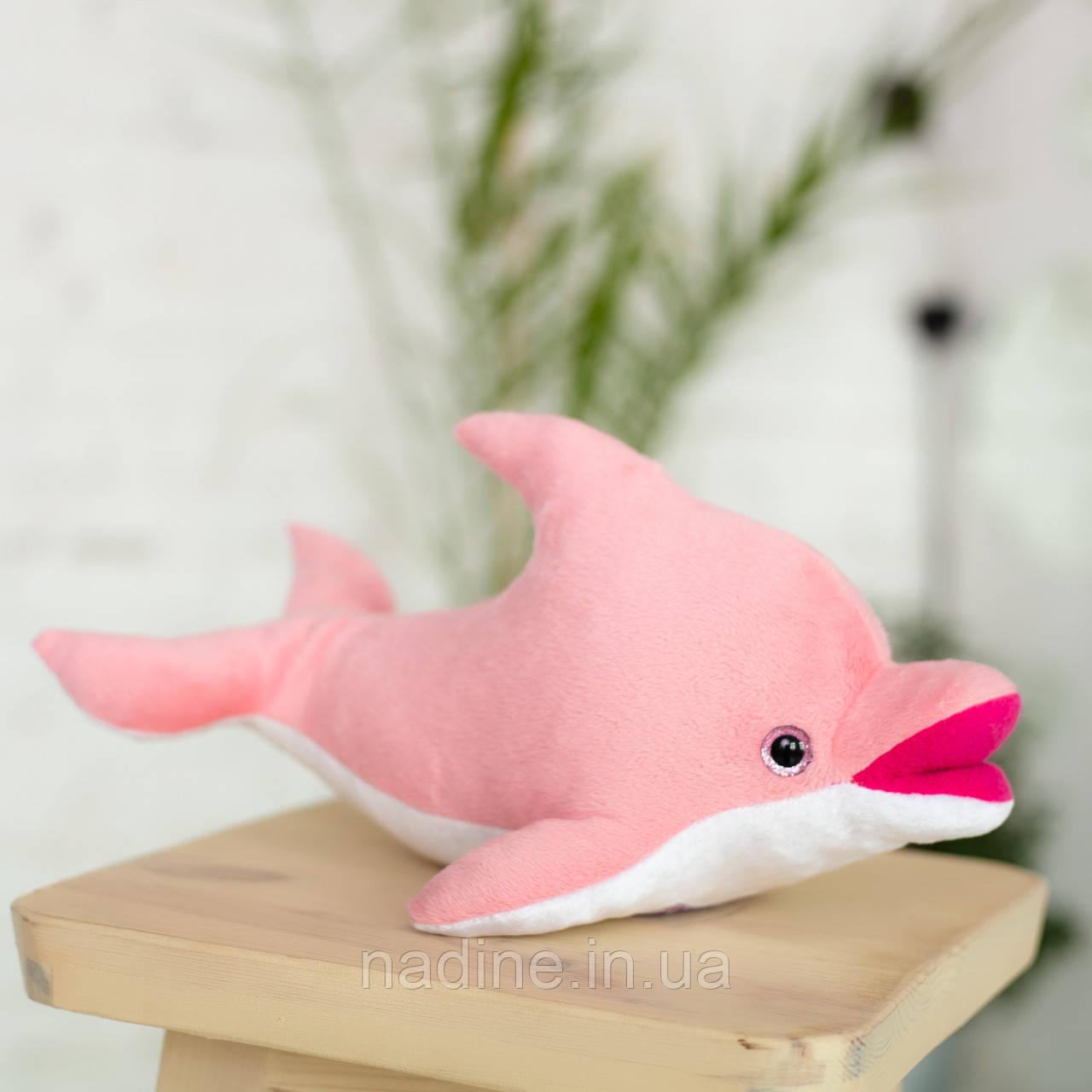 Дельфін іграшка Eirena Nadine (312-R-30) плюшевий 30 см рожевий