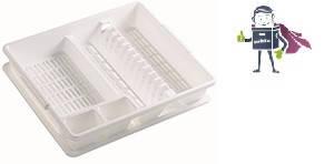 Сушарка для посуду з піддоном Heidrun Kitchen Mix 47 * 39 * 10,5 см (HDR-2209)