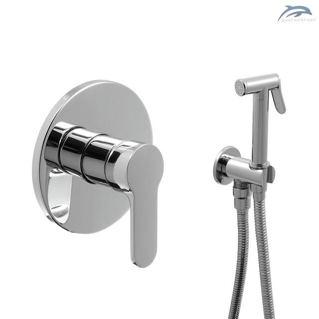 Душова система прихованого монтажу для гігієнічного душу SGD-05 з дизайном круглої форми.