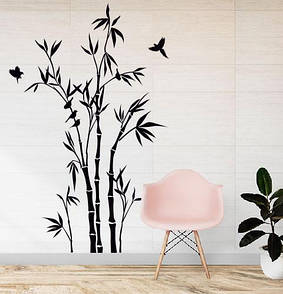 Наклейка на стіну Бамбуковий ліс (бамбукові зарості, східний стиль, бамбук, велика наклейка на стіну)