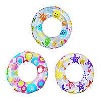 Надувной круг Lively Print Swim Rings Intex 59241. В упаковке 36 штук