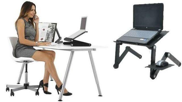 Подставка- трансформер для ноутбука с кулером на кровать  Table T9.