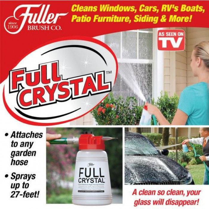Многофункциональный очиститель стекол,окон и наружных поверхностей от Full Crystal(в ящике 30шт).