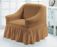 Чехлы на кресла комплект 2 шт. коричневые