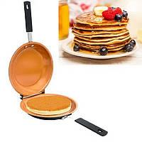 Двухсторонняя сковородка для панкейков pancake bonanza copper., фото 1