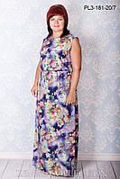 Длинное летнее платье ПЛ3-181 (р.44-54)