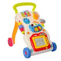Детские музыкальные ходунки-каталка  HE0801,игровая панель,доска для рисования
