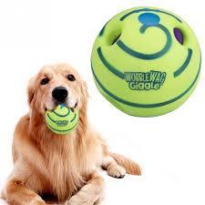 Игрушка для собак Хихикающий мяч для собак Wobble Wag Giggle.
