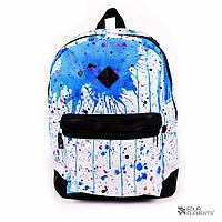Белый рюкзак с синими пятнами Four Elements