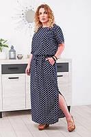 Длинное летнее платье  Кайла  (р.50-60), фото 1