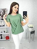 Очень легкие однотонные женские футболки на лето арт 4032