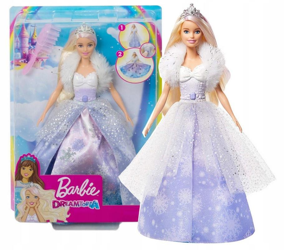 Barbie Кукла Барби Зимняя магия Dreamtopia Fashion Reveal Princess Doll Барби