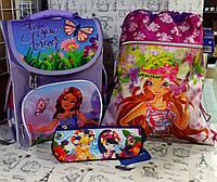 """Набор для Девочки Smile """" Принцесса  """"  рюкзак 988619  , пенал  JO-15092 , сумка для обуви JO - 16161+ Подарок"""
