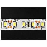 Стрічка жовта 9,6W/м 120LED/м IP65 в силіконі світлодіодна 8mm MTK-600YF3528-12 №1, фото 2